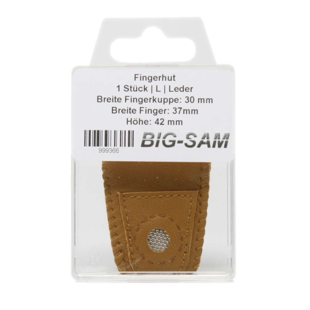 "Leder Fingerhut Größe ""L"" - 30x40x42mm"